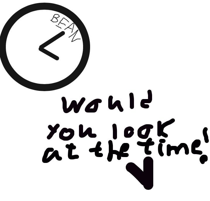 Drawing in It's bean o' clock by Vsauce
