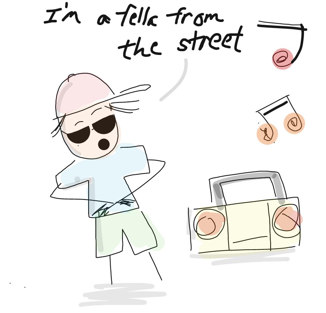Drawing in Let us rap by homersimpson89