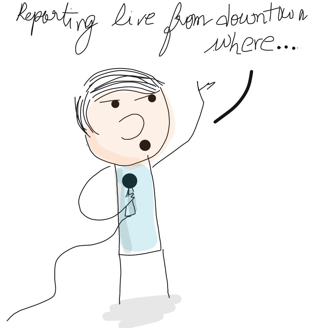 Drawing in Breaking News by homersimpson89