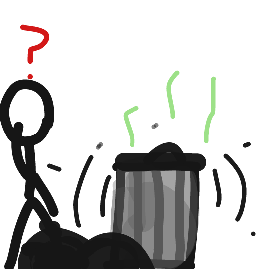 Something finna come out of the trash - Online Drawing Game Comic Strip Panel