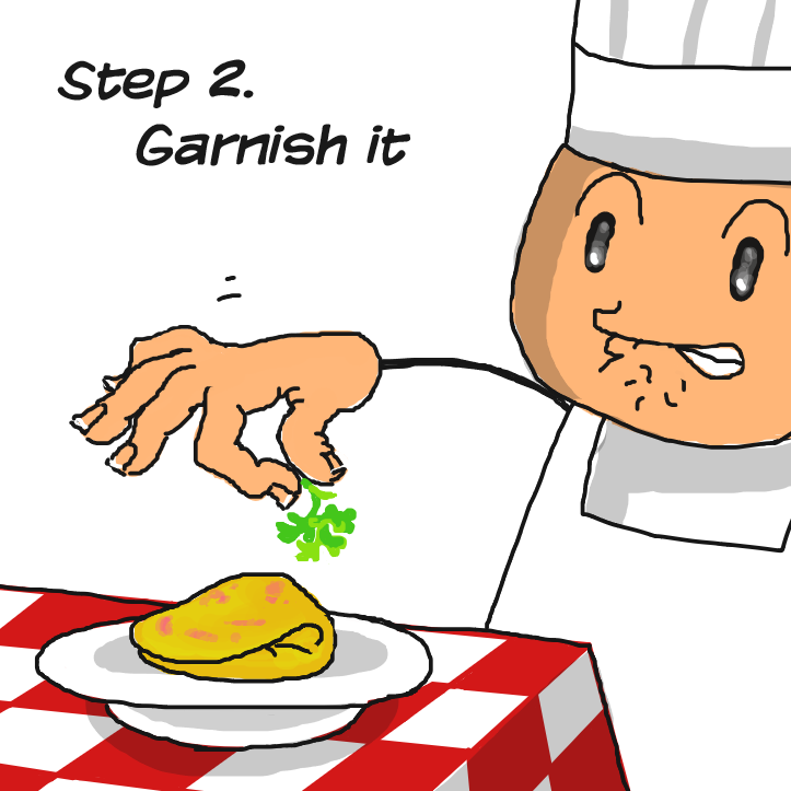 Mmh.. Who likes parsley?? - Online Drawing Game Comic Strip Panel by Delete