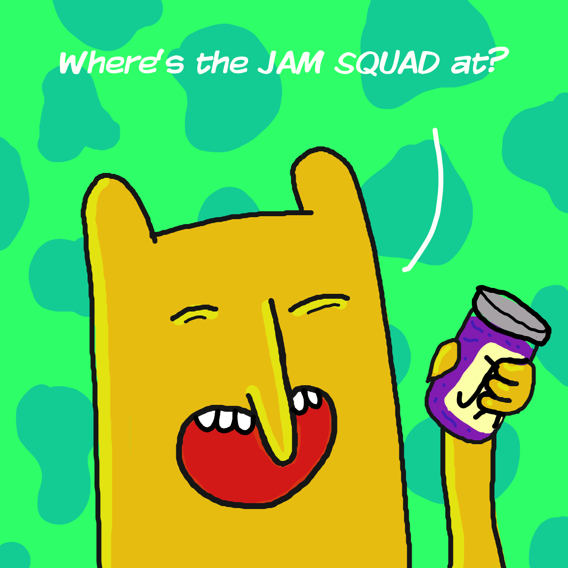 JAM SQUAD ASSEMBLE - Online Drawing Game Comic Strip Panel by joshyouart