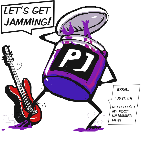 Drawing in Panel Jam Mascot  by Ramora