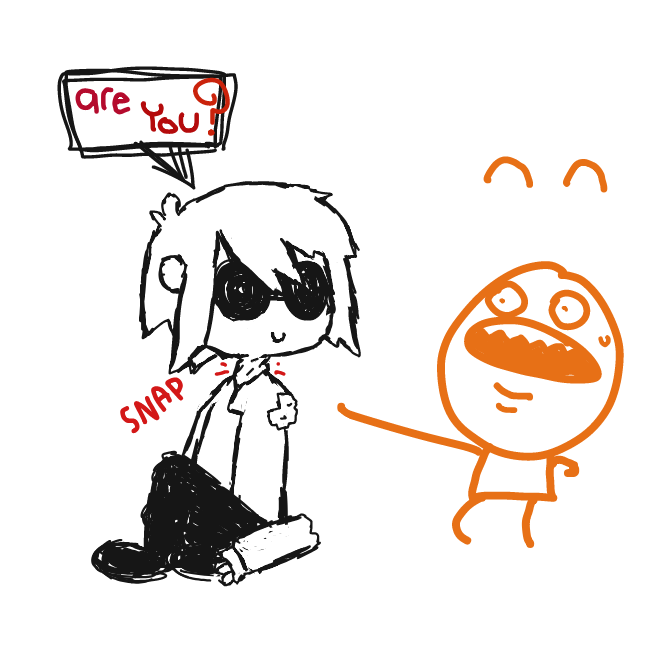 an inquisitive ???? thing - Online Drawing Game Comic Strip Panel by Jyke The Person