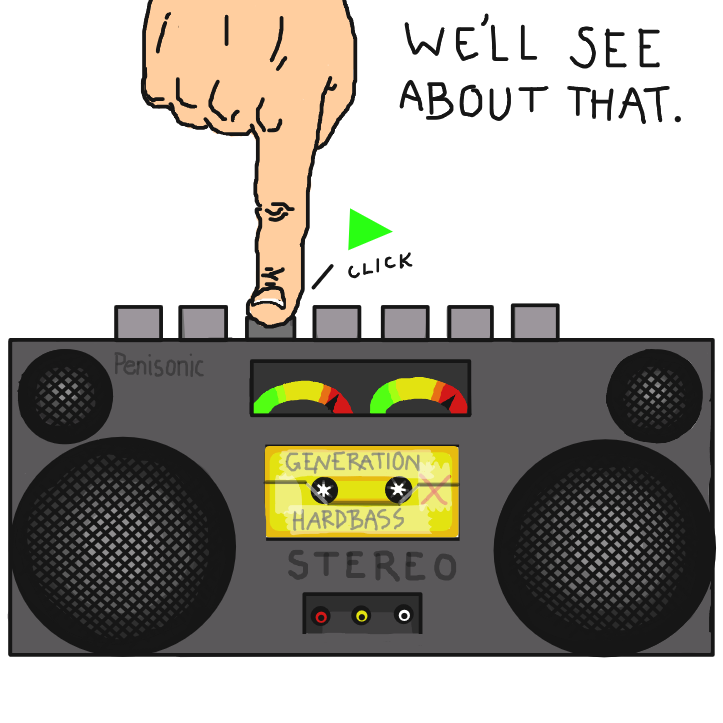 Turn it up, or suck it up. - Online Drawing Game Comic Strip Panel by Delete