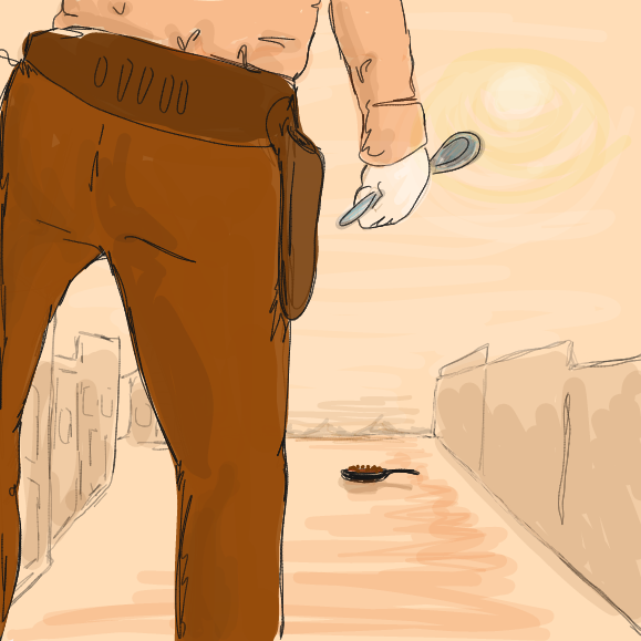 """Beans"" western movies. Like Spaghetti westerns but funnier. - Online Drawing Game Comic Strip Panel by Wizard Croissant"