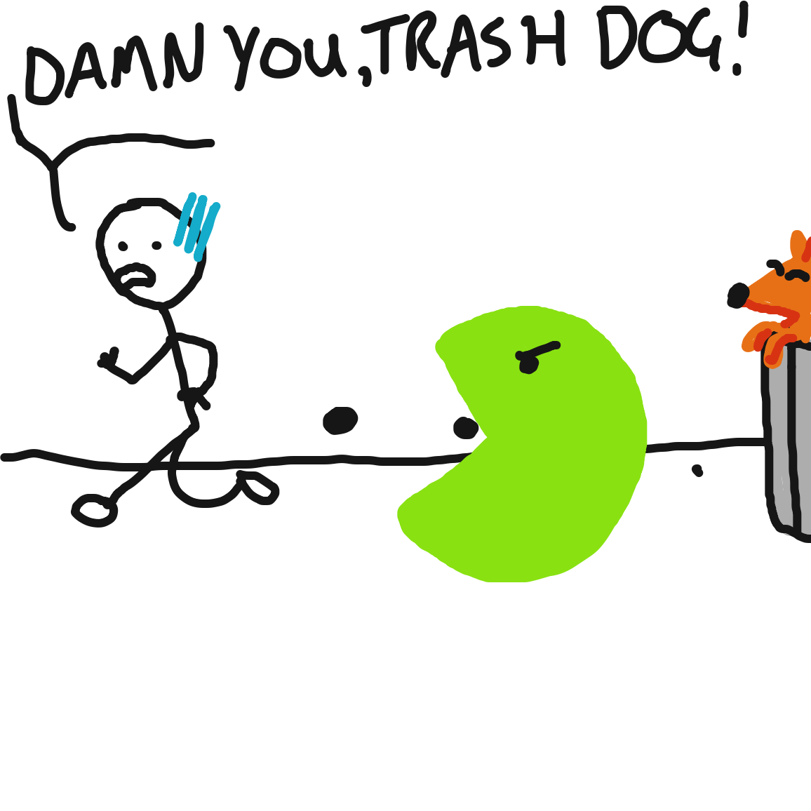 TRASHMAN! - Online Drawing Game Comic Strip Panel