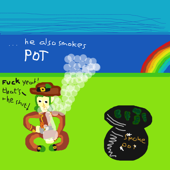 Not smug when he smokes pot for sure - Online Drawing Game Comic Strip Panel by Typical_Hetero_Human