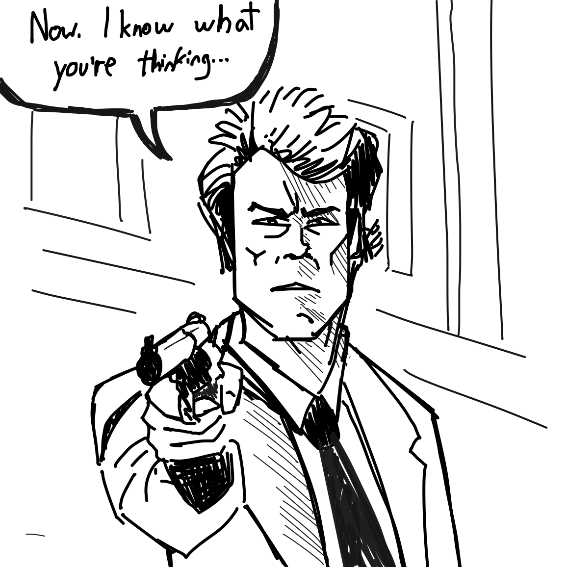 Drawing in Dirty Harry by superstar_pixie