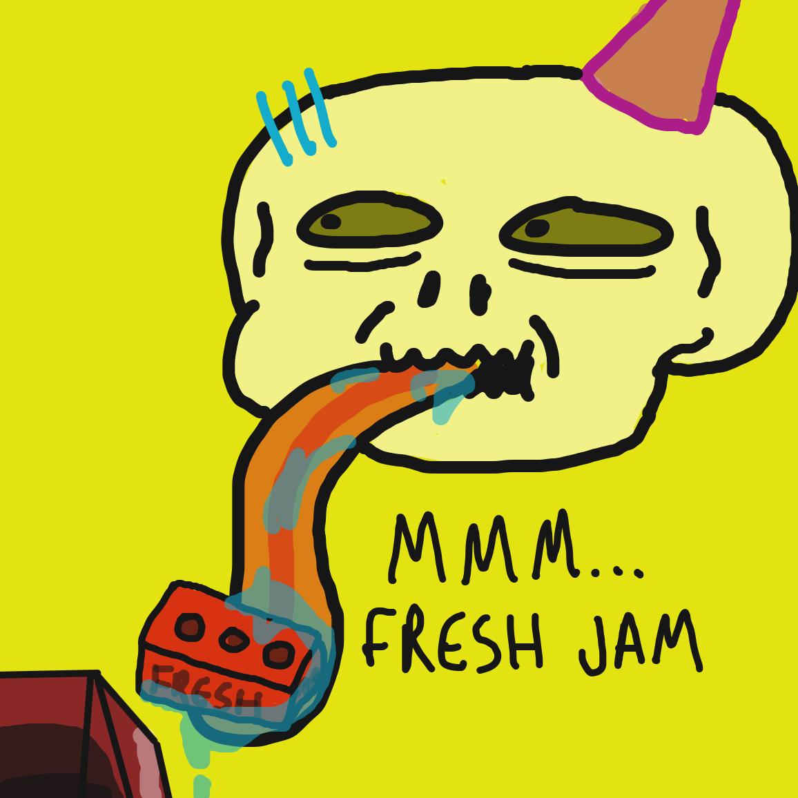 Drawing in Skull Jam by joshyouart