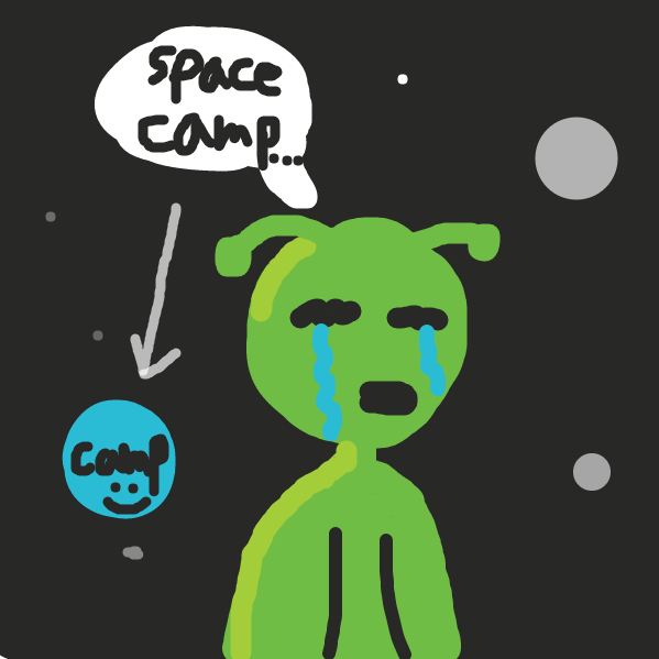 Dude was at camp - Online Drawing Game Comic Strip Panel by Tyson Turnpike