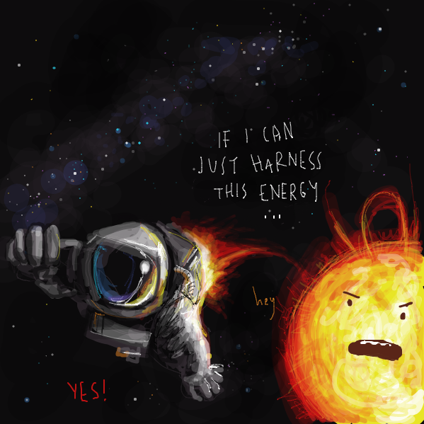 Drawing in spacey  by Jim