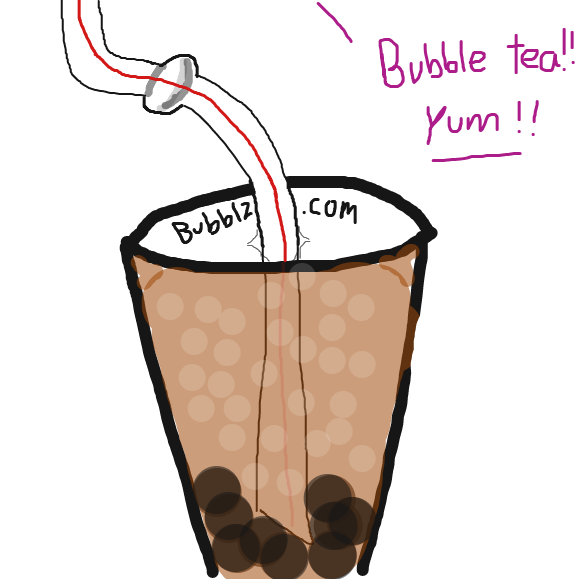 Bubble tea! yum! - Online Drawing Game Comic Strip Panel by Typical_Hetero_Human