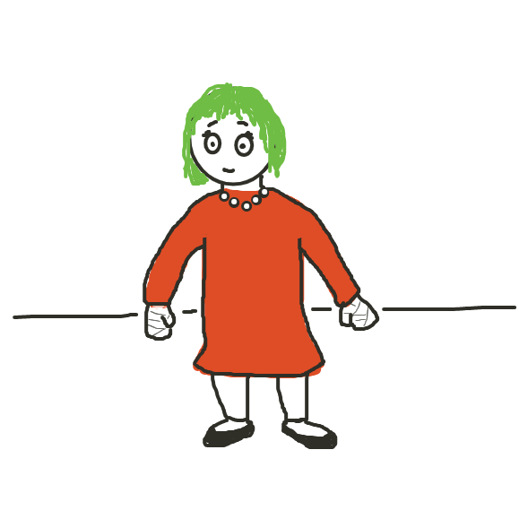 Drawing in GIVE SALLY A MAKEOVER PLS IT'S XMAS NOT HALLOWEEN by Dogg