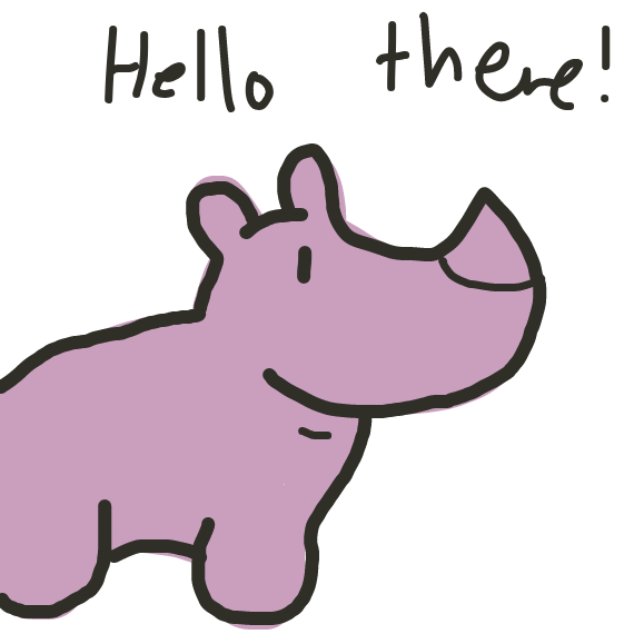 The javan rhino is sad that its population will be lost - Online Drawing Game Comic Strip Panel by SteliosPapas