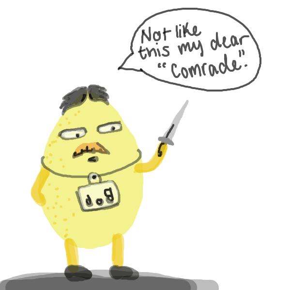 Mister Bob isn't going down without a fight! - Online Drawing Game Comic Strip Panel by missnapkindoodle
