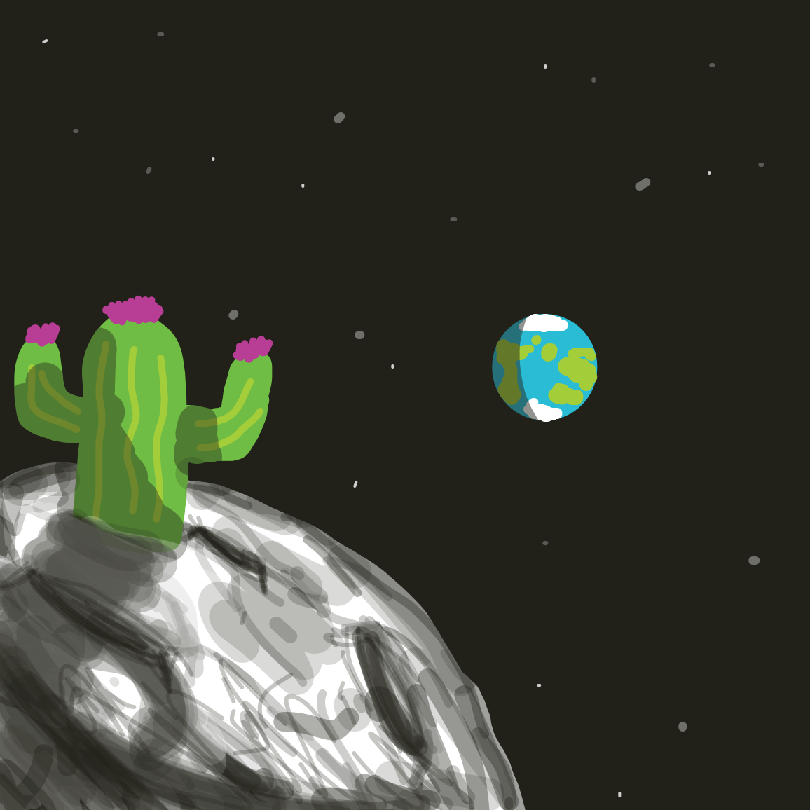 Drawing in Cactus adventure #1 by joshyouart