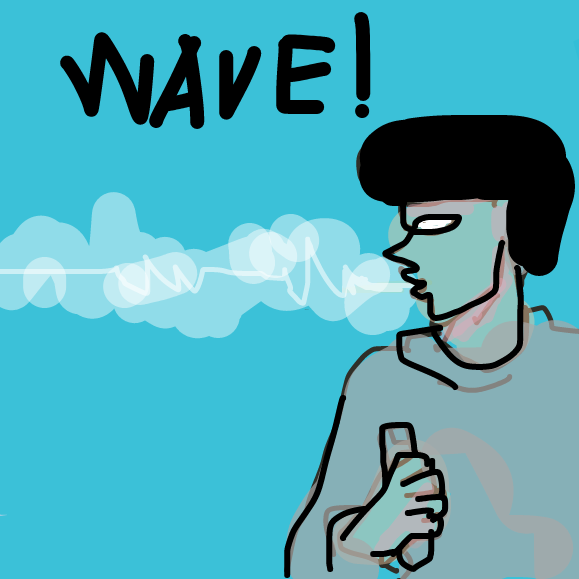 Drawing in VAPO R WAVE by snakehead iman