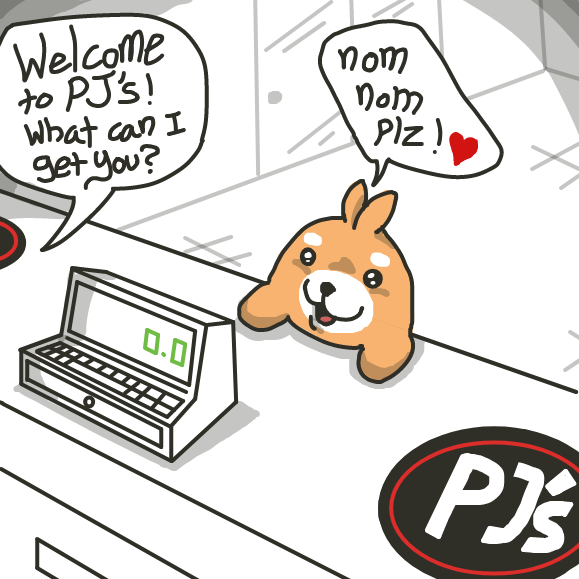 Hamham wants nom nom lunch time! - Online Drawing Game Comic Strip Panel by xavvypls