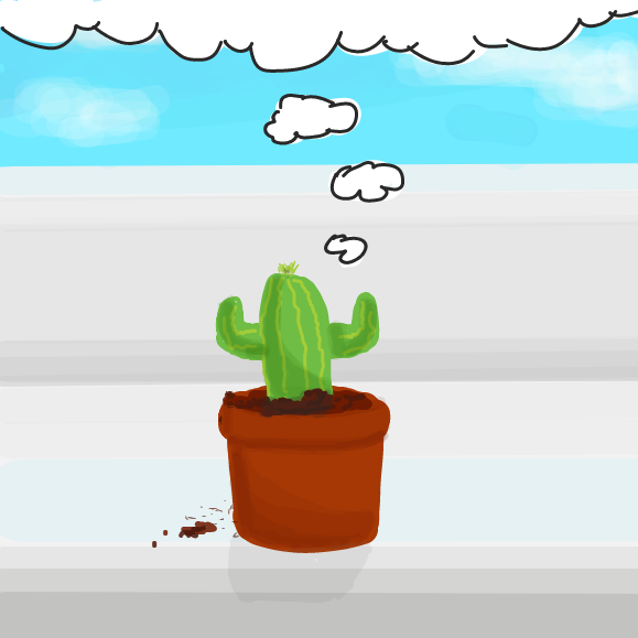 Drawing in Cactus adventure #1 by Robro