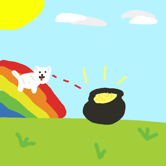 Wow! A pot of gold! - Online Drawing Game Comic Strip Panel