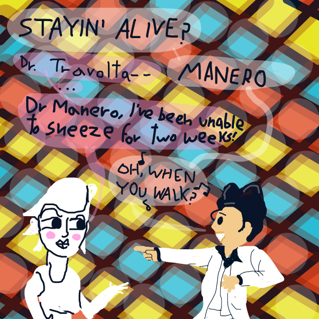 """Or he said """"we will get low"""" synced to the music, I honestly don't know what they're singing - Online Drawing Game Comic Strip Panel by Yntec"""