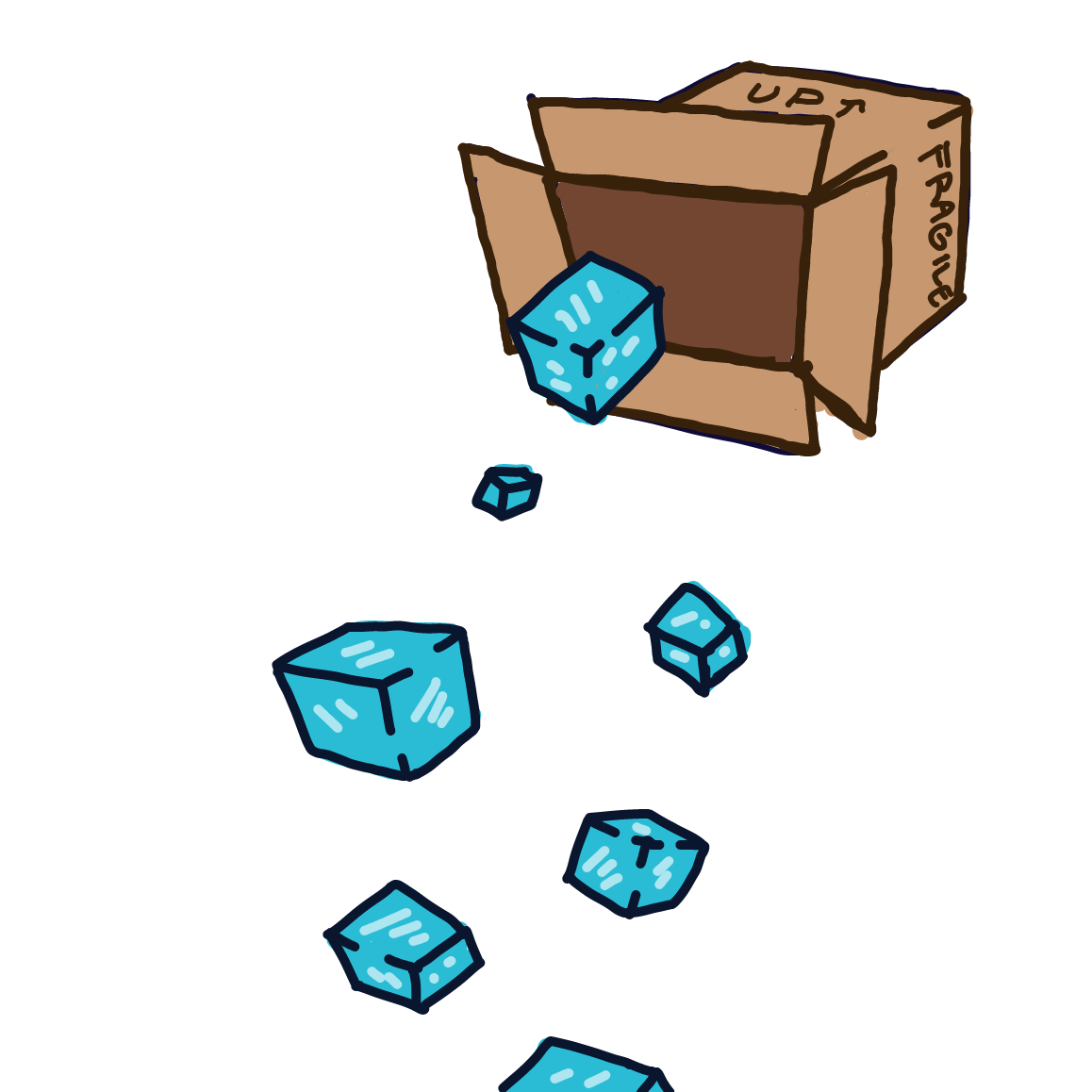 First panel in Continue the Cubes! drawn in our free online drawing game