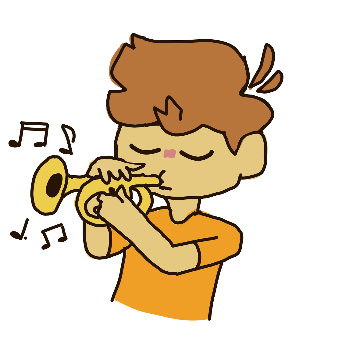 Drawing in Trumpet Boi by Plutomics
