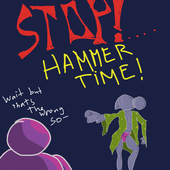 this is the second hammer ive drawn today. hmm - Online Drawing Game Comic Strip Panel