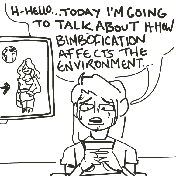 i just wanted to write bimbofication - Online Drawing Game Comic Strip Panel by Mojomos