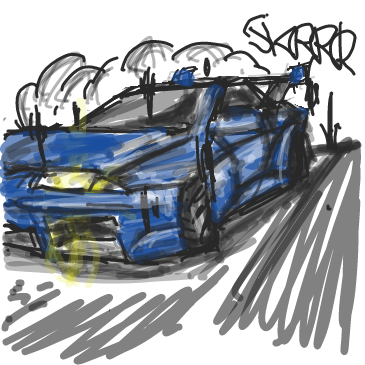 First panel in The race drawn in our free online drawing game