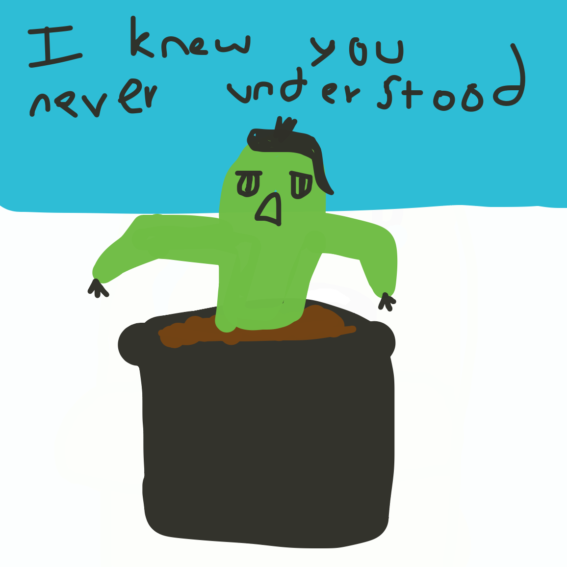 emo cactus  - Online Drawing Game Comic Strip Panel by unfortunate fool