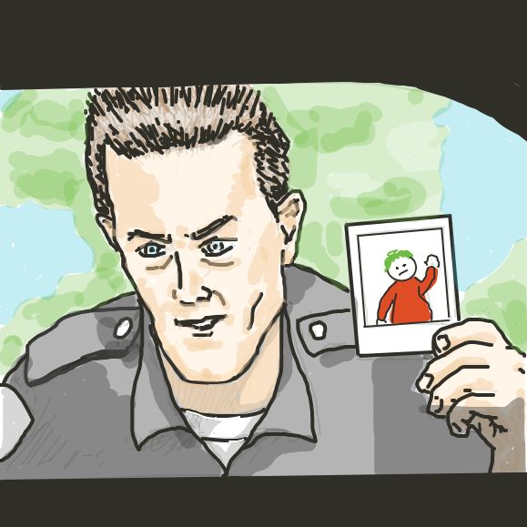 Have you seen this boy? - Online Drawing Game Comic Strip Panel