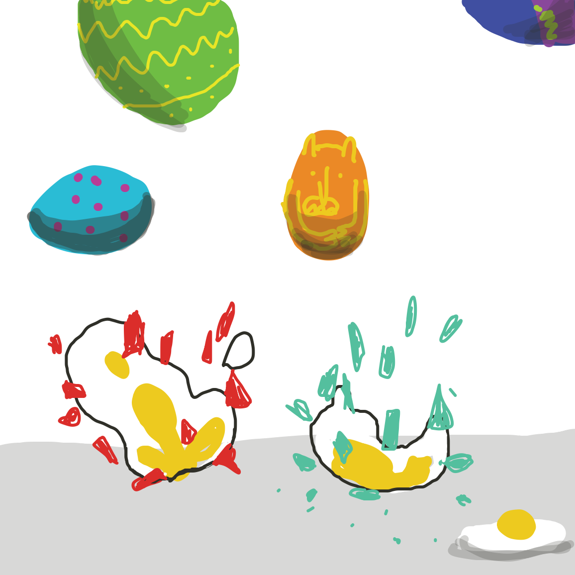 Drawing in Continue the eggs! by joshyouart