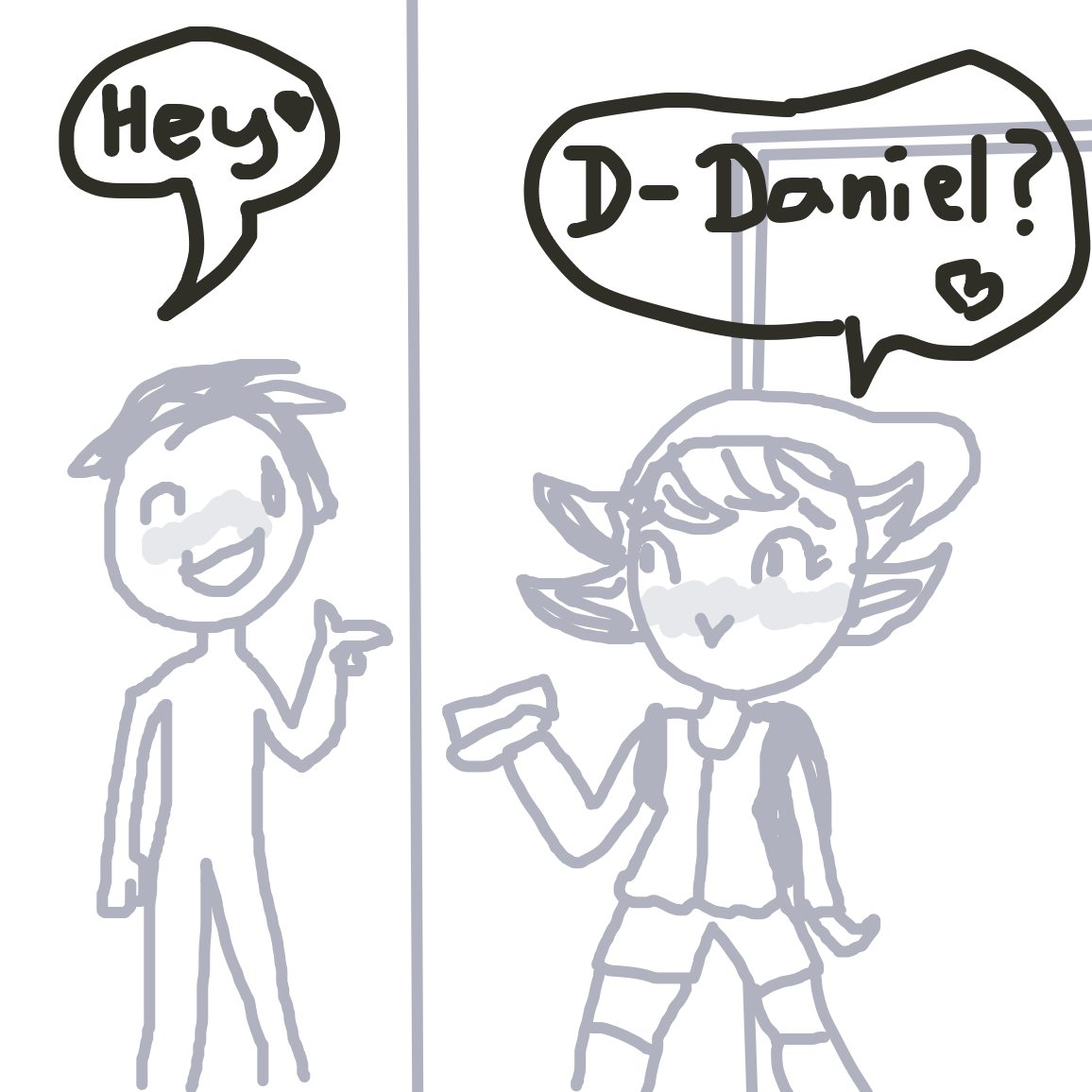 hehe <3 - Online Drawing Game Comic Strip Panel by unfortunate fool