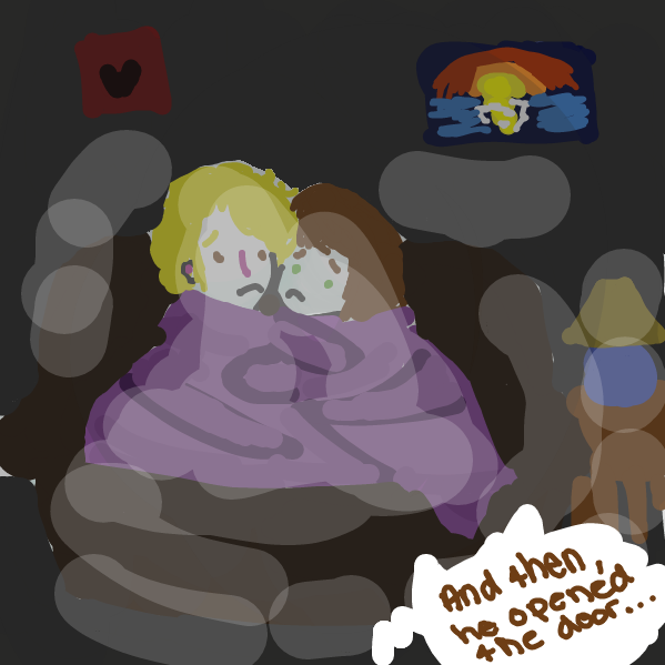 First panel in Date Night drawn in our free online drawing game