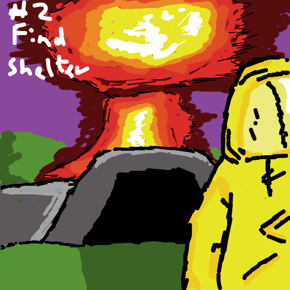 Tip #2 Dan should go and find shelter! - Online Drawing Game Comic Strip Panel by Void-God