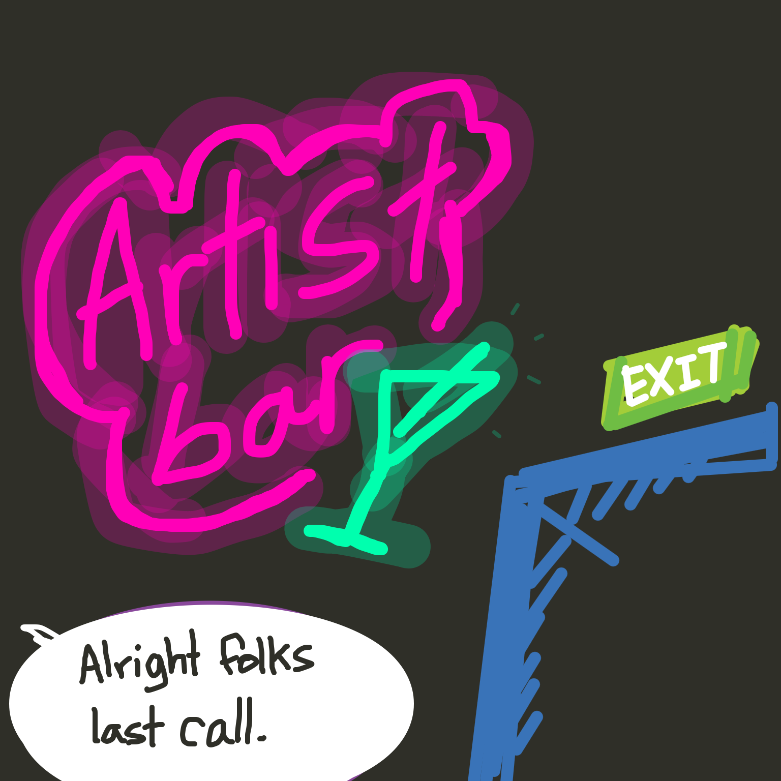 Liked webcomic Artist Bar: Last Call