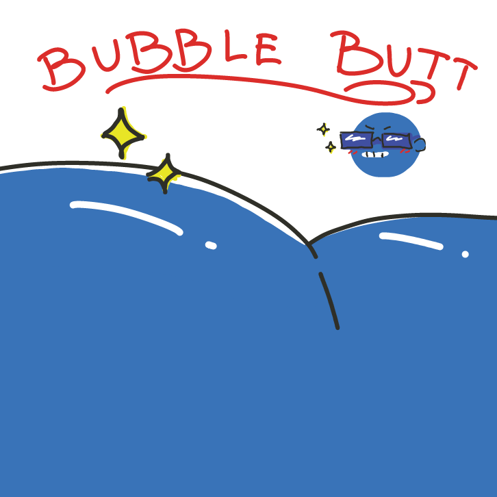 bubble butt, bubble, bubble, bubble, butt - Online Drawing Game Comic Strip Panel by EdamameBean