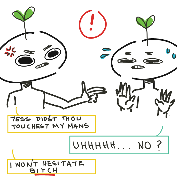 I wOn'T hEsiTatE BiTcH - Online Drawing Game Comic Strip Panel by EdamameBean