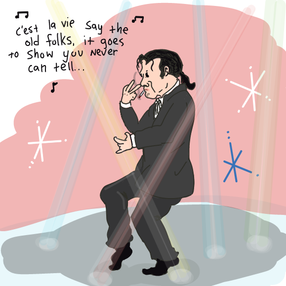 Just Vincent Vega being cool or whatever. - Online Drawing Game Comic Strip Panel by WizardCroissant
