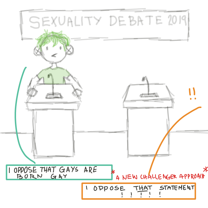 A new challenger opposes /that/ statement - Online Drawing Game Comic Strip Panel