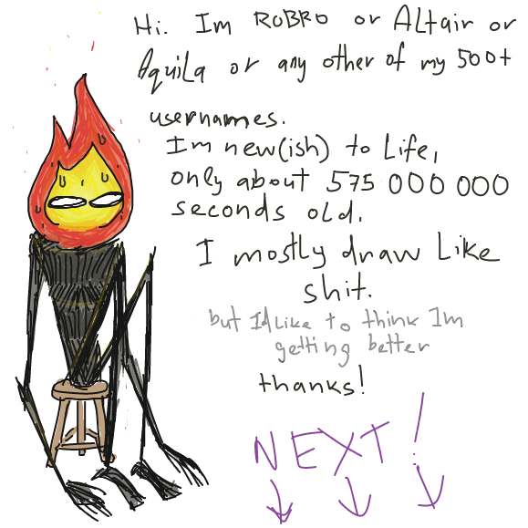 dang my handwriting is bad - Online Drawing Game Comic Strip Panel by Robro