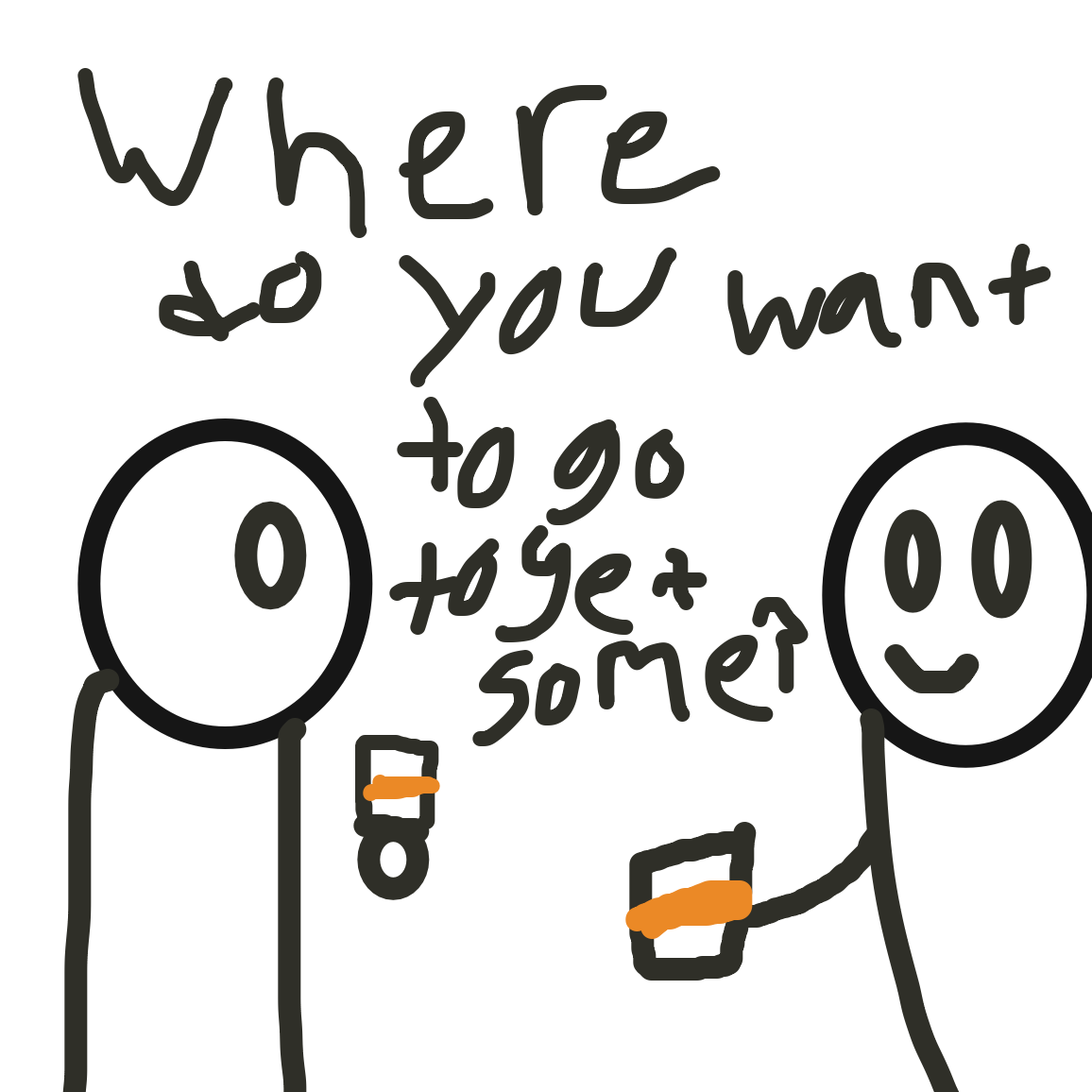 Okay but where do you want to go to get some coffee - Online Drawing Game Comic Strip Panel by Jack