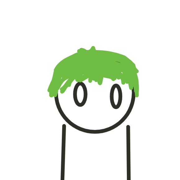 Drawing in what if jack had green hair  by Robro