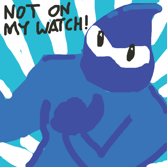 Hydration Man intervenes! - Online Drawing Game Comic Strip Panel by Just Alex