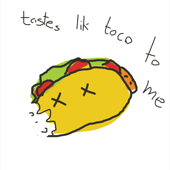 Drawing in This is not a Taco  by vaporflare