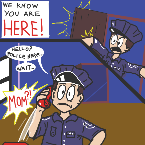 Uh-oh... - Online Drawing Game Comic Strip Panel by Painterjosh