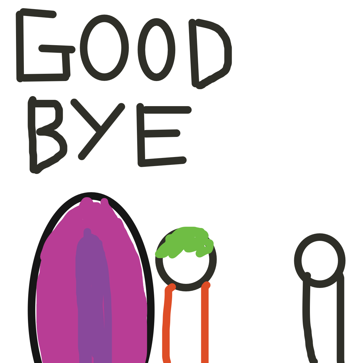 Well then good bye brother - Online Drawing Game Comic Strip Panel by Jack
