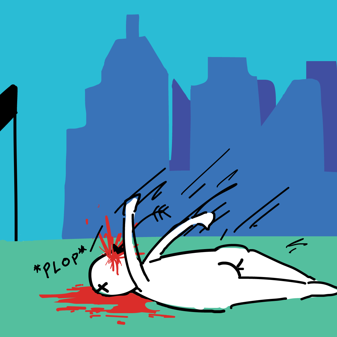 someone had to do it - Online Drawing Game Comic Strip Panel by The Burned Man